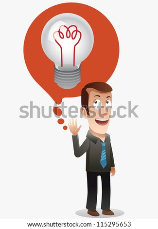find big idea. detailed vector illustration - stock vector
