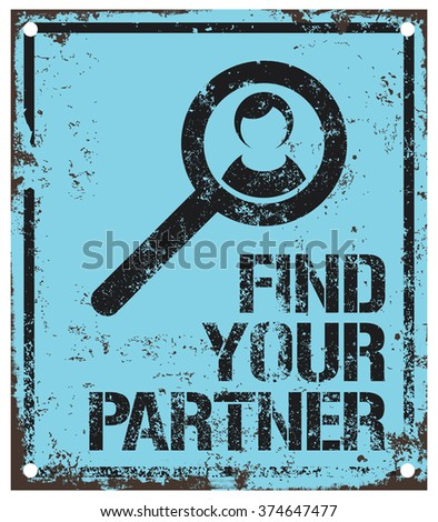 find your partner - stock vector
