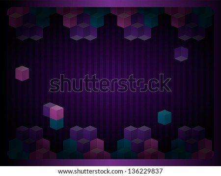 fine cubes background - stock vector