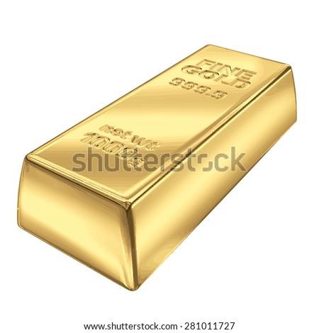 Fine Gold bank bar vector illustration EPS 8. - stock vector