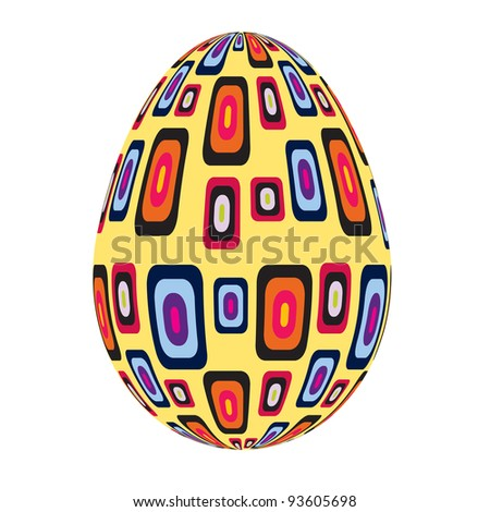 fine painted egg designed for Easter - stock vector
