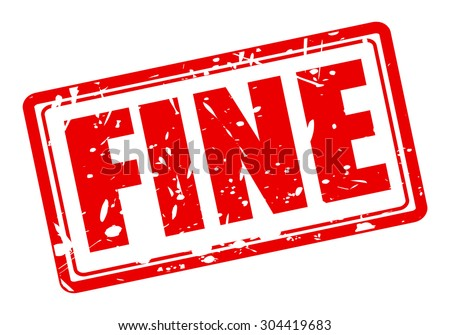 Fine red stamp text on white - stock vector