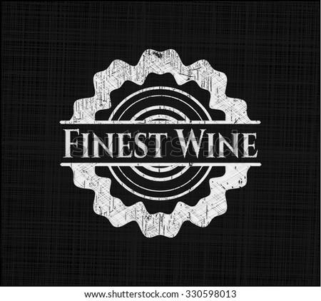 Finest Wine chalk emblem - stock vector