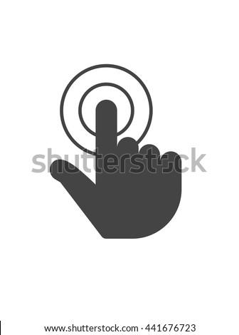 Finger click, hand click icon, finger click, hand click icon, finger click, hand click icon, finger click, hand click icon, finger click, hand click icon, finger click, hand click icon, finger click - stock vector