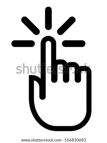 Finger click icon - stock vector