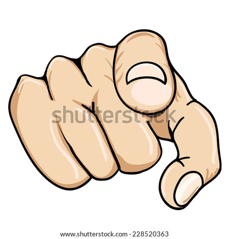 finger or hand pointing icon - stock vector