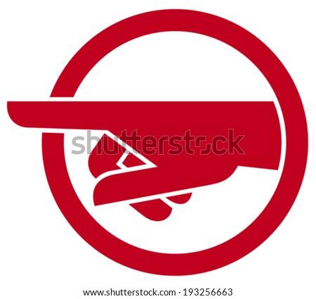 finger pointing symbol  - stock vector