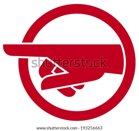 finger pointing symbol (hand with pointing finger) - stock vector