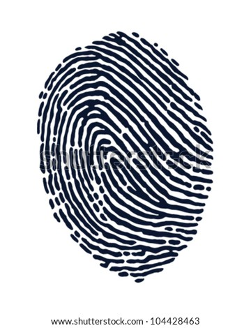 FInger Print - stock vector