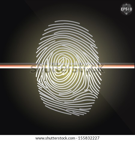 finger print access, vector, eps10 - stock vector