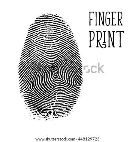 Finger print, vector - stock vector