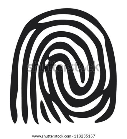 finger print (vector fingerprint) - stock vector