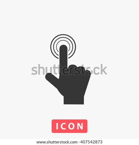 finger touch Icon - stock vector