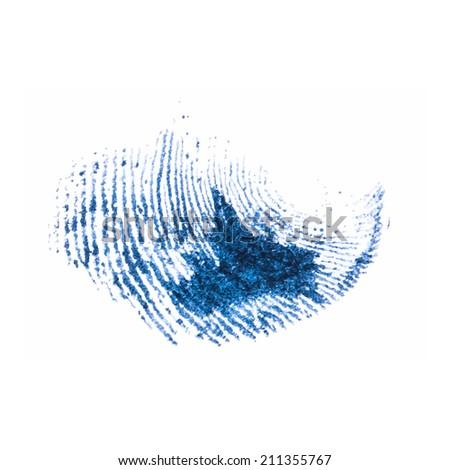 fingerprint pattern isolated on white - stock vector