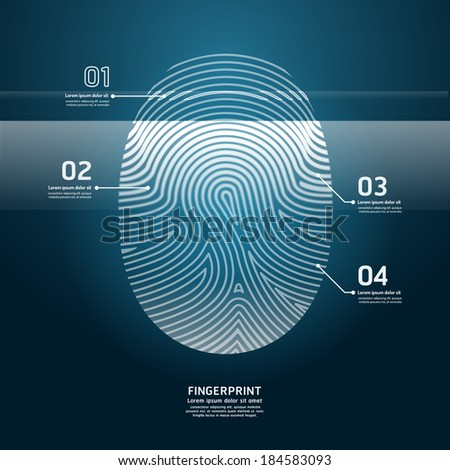 Fingerprint Scan vector illustration. - stock vector