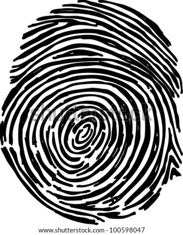 fingerprint vector file - stock vector