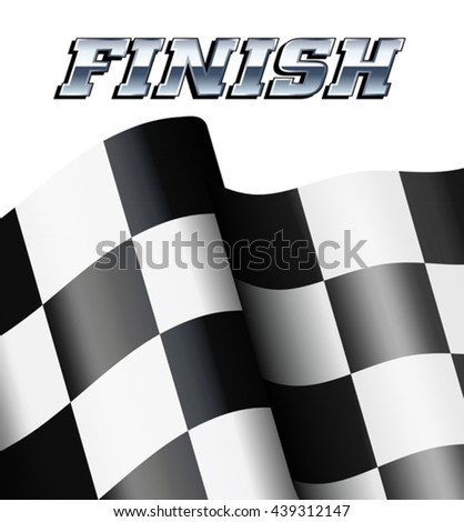 Finish Background, Checkered, Chequered Flags Motor Racing - stock vector