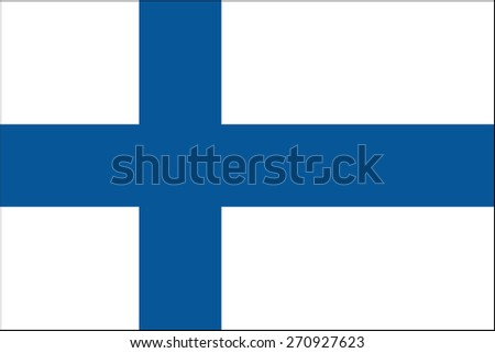 Finland Flag - stock vector