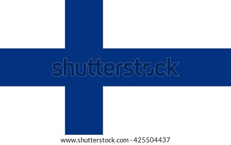 Finland flag and language icon  - isolated vector illustration - stock vector
