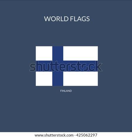 Finland Flag Icon, Finland Flag Icon Eps10, Finland Flag Icon Vector, Finland Flag Icon Eps, Finland Flag Icon Jpg, Finland Flag Icon Picture, Finland Flag Icon Flat, Finland Flag Icon App - stock vector
