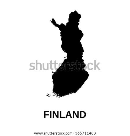 Finland - map - stock vector