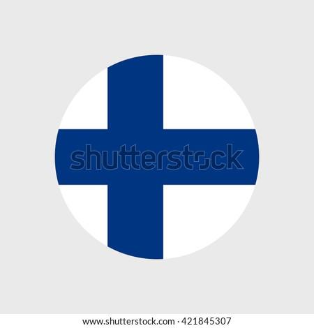 Finland national flag - stock vector