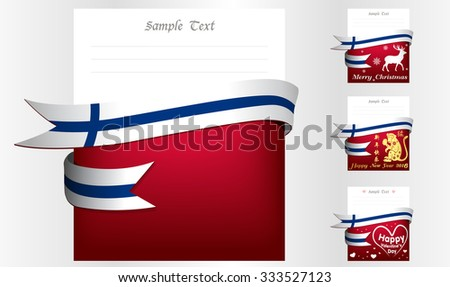Finland 's greeting card in big 3 festivals and their template vectors in eps10 - stock vector