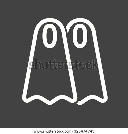 Fins, whale, ocean icon vector image. Can also be used for summer, recreation and fun. Suitable for use on mobile apps, web apps and print media. - stock vector