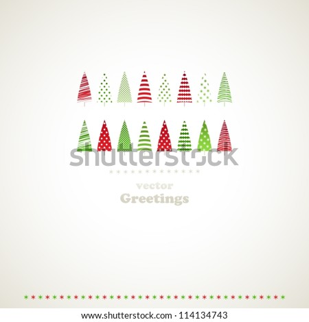 Fir-trees winter events background. Vector illustration. - stock vector
