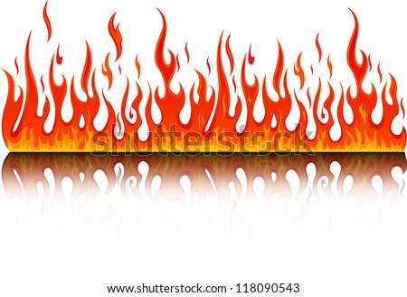 fire - stock vector