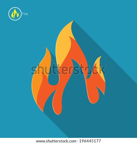 Fire and flame concept - stock vector