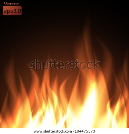 Fire background. Vector eps10. - stock vector