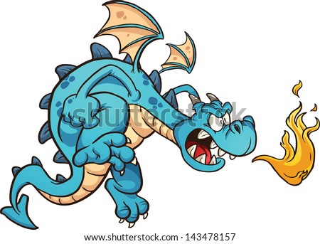 Pictures of Cartoon Dragons Breathing Fire Fire Breathing Cartoon Blue