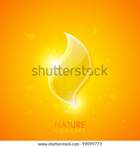 Fire concept background - stock vector