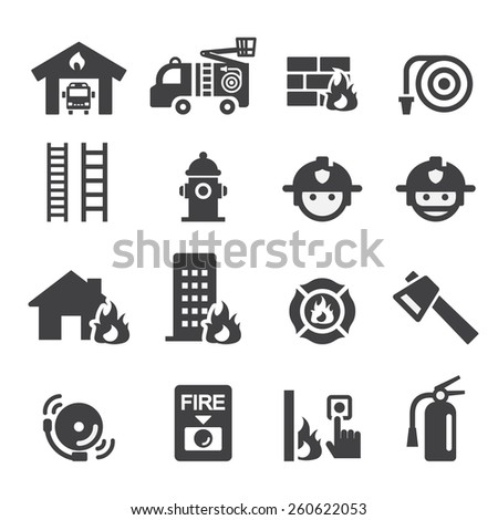 fire department icon - stock vector