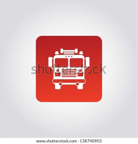 Fire Engine / rescue team, internet icon, design element, vector - stock vector