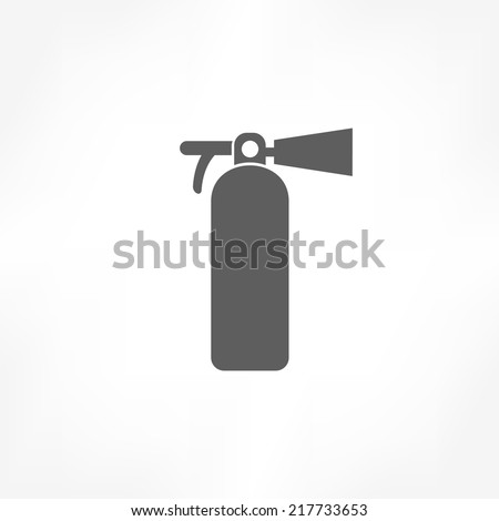 fire extinguisher icon - stock vector