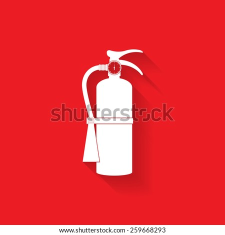 Fire extinguisher icon - Vector - stock vector