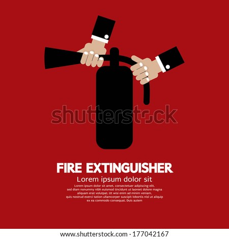 Fire Extinguisher Vector Illustration - stock vector