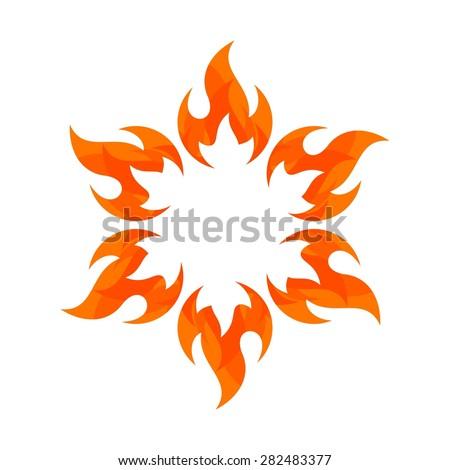 Fire Flame. fire Logo vector template. Fireball logotype icon vector. sun fire. - stock vector