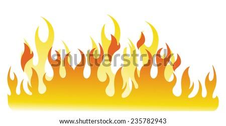Fire Flames - stock vector