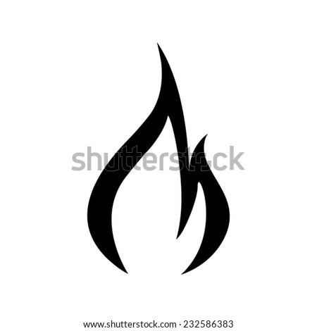 Fire flames icon - Vector - stock vector