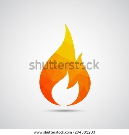 Fire flames icon - Vector - stock vector