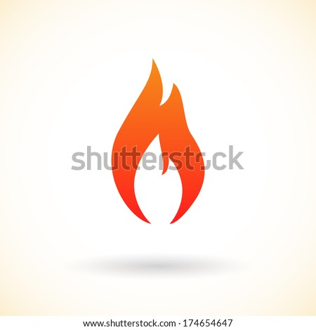 Fire flames icon, vector illustration  - stock vector