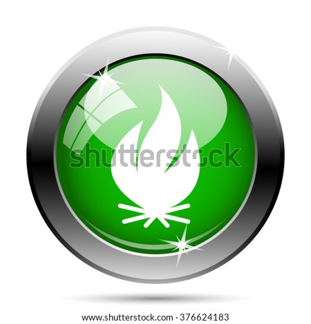 Fire icon. Internet button on white background. EPS10 vector.