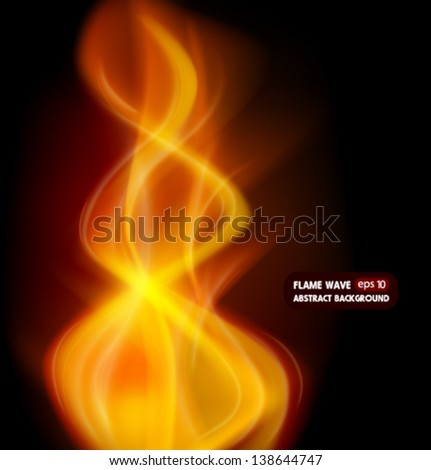 Fire lines. Abstract background. - stock vector