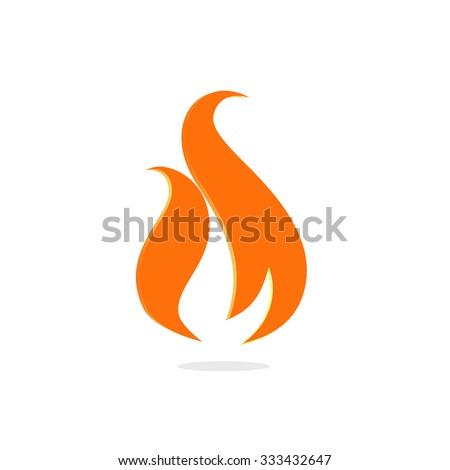 Fire logo. Orange logo. Isolated logo. Unusual shape logo. Warm logo. Yellow logo. Colour logo. Simple logo. Abstract logo. Stilish logo. Stylized logo. Logo. Sign. Vector logo. Elegant logo. Logo.  - stock vector