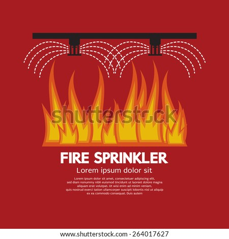 Fire Sprinkler Life Safety Vector Illustration - stock vector