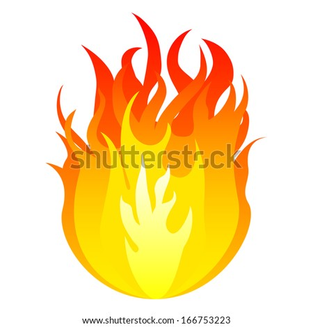 Fire, vector  - stock vector