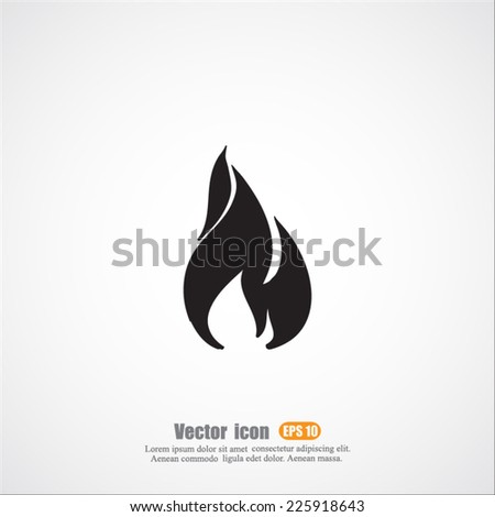 fire  vector icon - stock vector